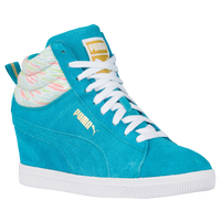 PUMA PC Wedge - Women's - Light Blue / White