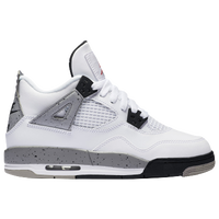 Jordan Retro 4 - Boys' Grade School - White / Red