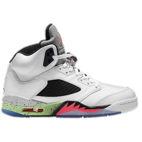 Jordan Retro 5 - Men's - Basketball - Shoes - White/Infrared 23/Light ...