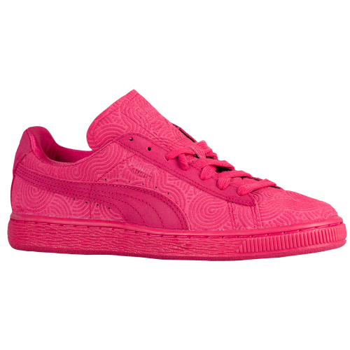 pink puma suede shoes womens