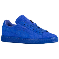 blue puma suede womens blue