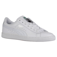 PUMA Basket Matte & Shine - Women's - All White / White