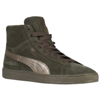 PUMA Suede Mid Classic - Men's - Olive Green / Gold