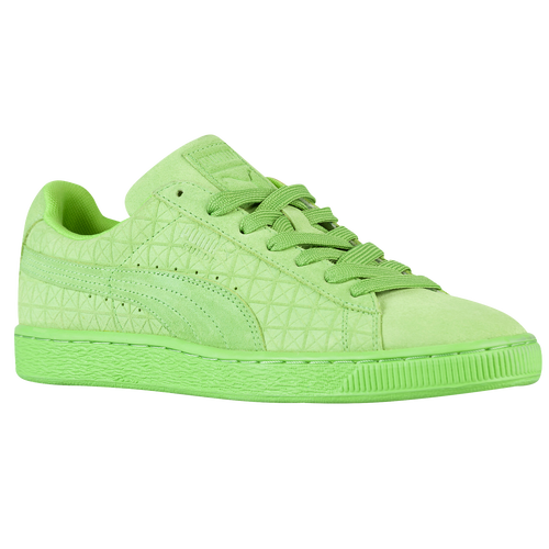light green puma suedes
