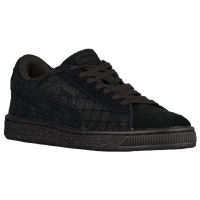 PUMA Suede Classic - Boys' Grade School - All Black / Black