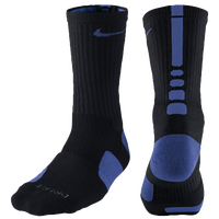 Nike Elite Basketball Crew Socks - Men's - Black / Blue