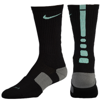 Nike Elite Basketball Crew Socks - Men's - Black / Light Green