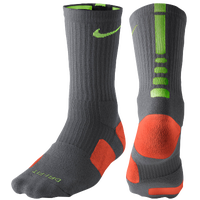 Nike Elite Basketball Crew Socks - Men's - Grey / Light Green
