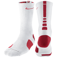 Nike Elite Basketball Crew Socks - Men's - White / Red