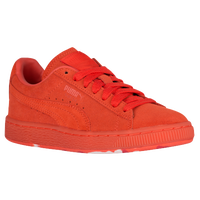 PUMA Suede Classic - Boys' Grade School - Orange / Orange