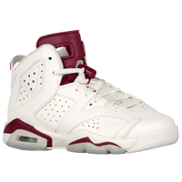 Jordan Retro 6 - Boys' Grade School - Off-White / Maroon