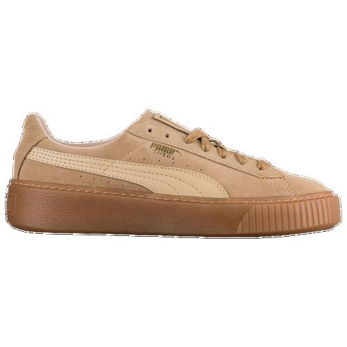 Puma Light Brown Platform Suede Shoes