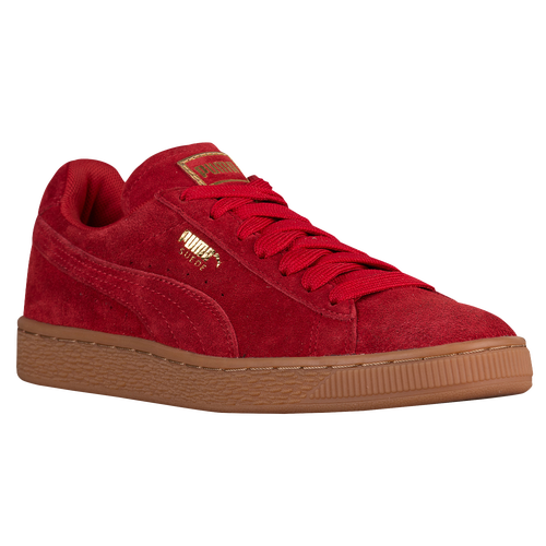 womens red puma suede gum