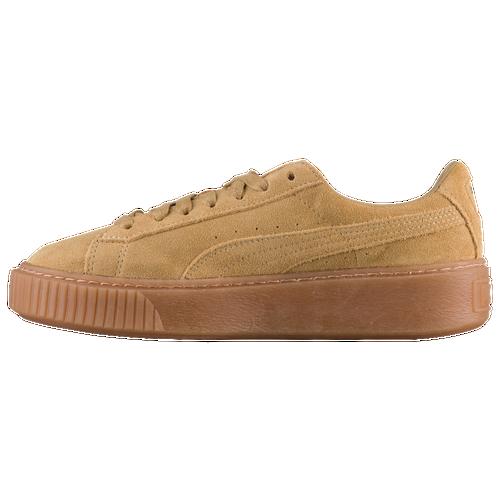 puma suede platform women 39 s casual shoes oatmeal gum. Black Bedroom Furniture Sets. Home Design Ideas
