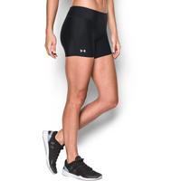 "Under Armour Authentic 4"" Compression Shorts - Women's - All Black / Black"
