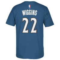 adidas NBA Game Time T-Shirt - Men's -  Andrew Wiggins - Minnesota Timberwolves