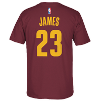 adidas NBA Game Time T-Shirt - Men's -  LeBron James - Cleveland Cavaliers - Maroon / Gold