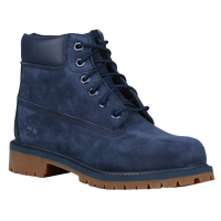 "Timberland 6"" Premium Waterproof Boots - Boys' Preschool - Navy / Tan"