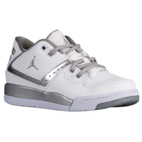 Jordan Flight 23 - Boys' Preschool - White / Silver