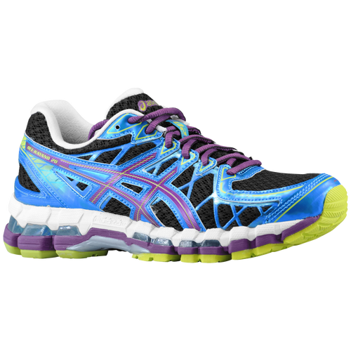 asics gel kayano 20 black plum blue