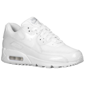 Nike Air Max 90 - Women's - White/Metallic Silver/White