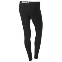 Nike Leg-A-See Logo Leggings - Women's - All Black / Black