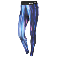 Nike Pro Hyperwarm Aurora Pants - Women's - Black / Blue