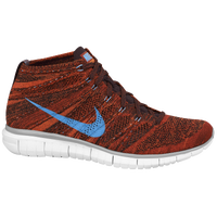 Nike Free Flyknit Chukka - Men's - Orange / Light Blue
