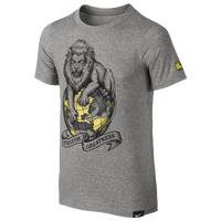 Nike LeBron World Dominate S/S T-Shirt - Boys' Grade School - Grey / Gold