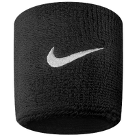 Nike Swoosh Wristbands - Black / White