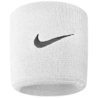 Nike Swoosh Wristbands - Men's - White / Black
