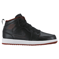Jordan AJ1 Mid - Boys' Preschool - Black / White