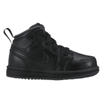 Jordan AJ 1 Mid - Boys' Toddler - All Black / Black