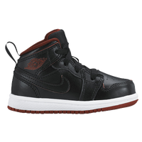 Jordan AJ 1 Mid - Boys' Toddler - Black / White