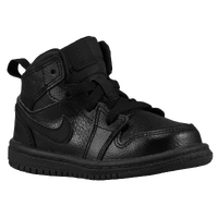 Jordan AJ1 Mid - Boys' Toddler - All Black / Black