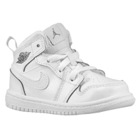 Jordan AJ1 Mid - Boys' Toddler - White / Grey