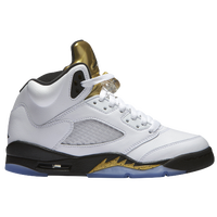 Jordan Retro 5 - Boys' Grade School - White / Black