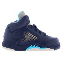 Jordan Retro 5 - Boys' Toddler - Navy / Light Blue