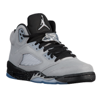 Jordan Retro 5 - Girls' Grade School - Grey / Black