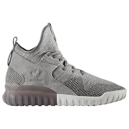Adidas Tubular X Mens AF6368 Carbon Grey Knit Textile Athletic