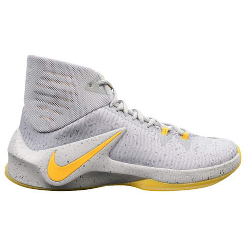 Nike Zoom Clear Out - Men's - Basketball - Shoes - Grey/Gold/Grey