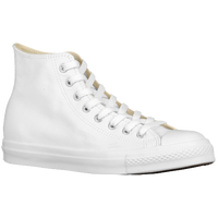 Converse All Star Leather Hi - Men's - All White / White