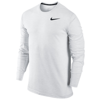 Nike Dri Fit Training LongSleeve - Men's - All White / White