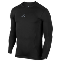 Jordan AJ All Season Compression Long Sleeve Top - Men's - All Black / Black