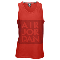 Jordan Retro 4 Stencil Tank - Men's - Red / Black