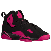 Jordan True Flight - Girls' Grade School - Black / Maroon