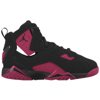 Jordan True Flight - Girls' Preschool - Black / Maroon