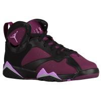 Jordan Retro 7 - Girls' Grade School - Black / Purple