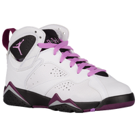 Jordan Retro 7 - Girls' Grade School - White / Purple