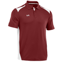 Under Armour Team Colorblock Polo - Men's - Maroon / White